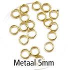 Dubbel oog - Goud - Metaal - 5mm