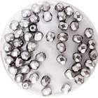 Facetkraal - Licht grijs nacré - 4mm