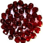 Facetkraal - Garnet - Glas - 5mm