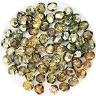Facetkraal - Olijf metaal - Glas n182 - 4mm