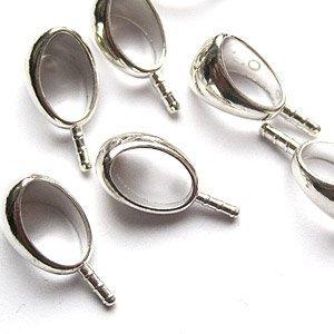 Art Clay Silver Hanger oog zilver - 10x6.4mm