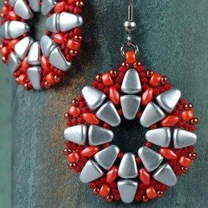 Publiek schema - Nib-Bits beads - Viracocha earrings