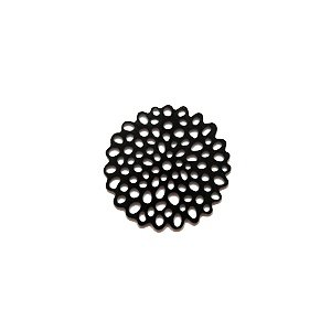Bloem filigraan - Zwart - 18mm