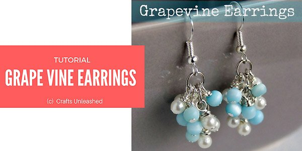DIY project: grapevine earrings