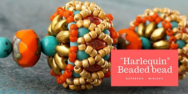 DIY project: Harlequin beaded bead