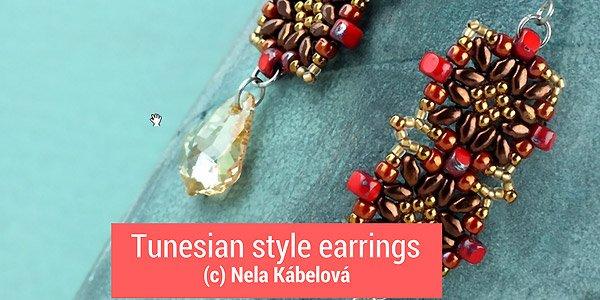 DIY Tutorial: Tunesian tile earrings