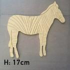 Figuur In Hout - Zebra - 17cm