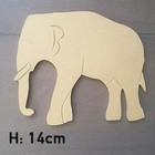 Figuur In Hout - Olifant - 14cm
