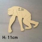 Figuur In Hout - Chimpansee - 11cm
