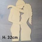 Figuur In Hout - Verliefd Koppel - 32cm