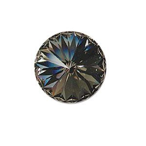 Swarovski 1122 - Rivoli - 12mm - Black Diamond Foiled