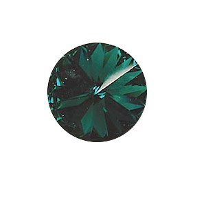 Swarovski 1122 - Rivoli - 12mm - Emerald Foiled