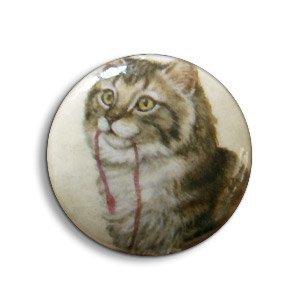 Pastille kat - Beige/lbruin/... - Papier/resin - 25mm