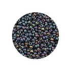 Rocailles Miyuki 8/0 - Opaque Mat Chocolate Multi Color (n°409) - 6.5gr