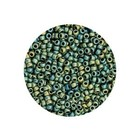 Rocailles Miyuki 8/0 - Mat Metallic Green Iris (n°2008) - 6.5gr