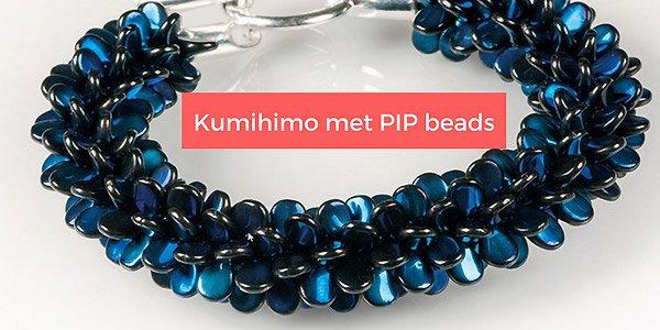 DIY patroon: Kumihimo met PIP beads
