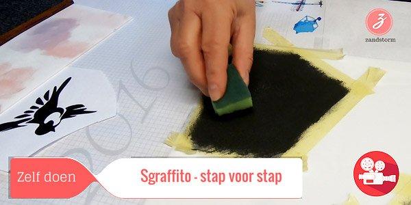 ZandstormTV - Sgraffito stap-voor-stap