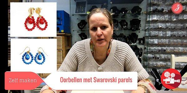ZandstormTV - Oorbellen met Swarovski parels