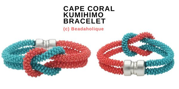 Video tutorial: Kumihimo - Cape coral bracelet