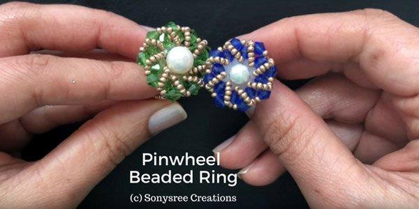 Video tutorial: Pinwheel beaded ring