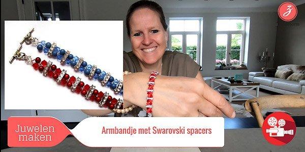 ZandstormTV - Armband met Swarovski spacers