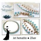 Materialenpakket - Halsketting Megane By Puca - Jet Hematite - Zilver
