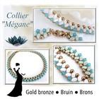 Materialenpakket - Halsketting Megane By Puca - Brons Gold - Bruin - Brons