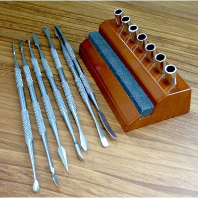 7 Pieces Wax Carver Set With Base