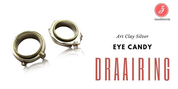 Eye Candy - Draairing in zilverklei
