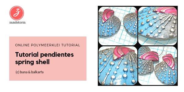 Polymeerklei tutorial - Clay Sea Shell Earrings Tutorial