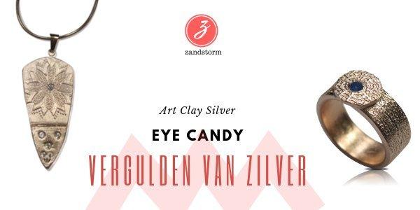 Eye Candy: vergulden van zilverklei stukjes
