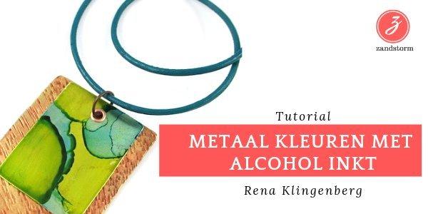 Tutorial: kleuren van metaal/zilver met alcohol inkt
