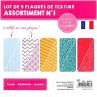 Textuurmat Flexibel - 5 Platen met telkens 2 motieven - 11x8cm