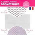 Textuurmat Flexibel - Geometrique - 2 Tekeningen  8x11cm