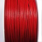 Rond leder - Rood - Leder - 1.5mm