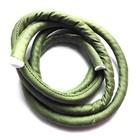 Gevulde zijden koord - Groen - 1m - 8mm