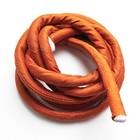 Gevulde zijden koord - Oranje - 1m - 8mm