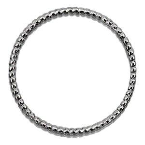 Cirkel fantasie - Rhodium - Metaal - 25x2mm