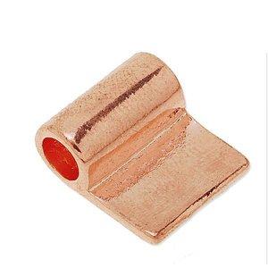 Rechthoekig - Rosé glanzend - Messing - 17x14x1mm
