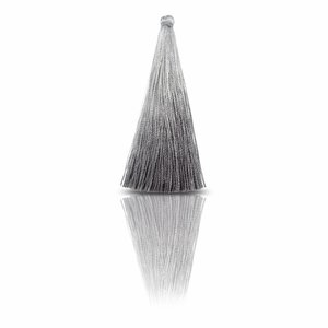 Lange kwast - Grijs - Zijde - 7cm