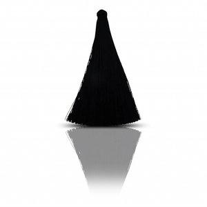 Lange kwast - Zwart - Zijde - 7cm