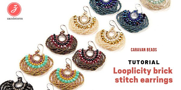 Tutorial: Looplicity brick stitch earrings
