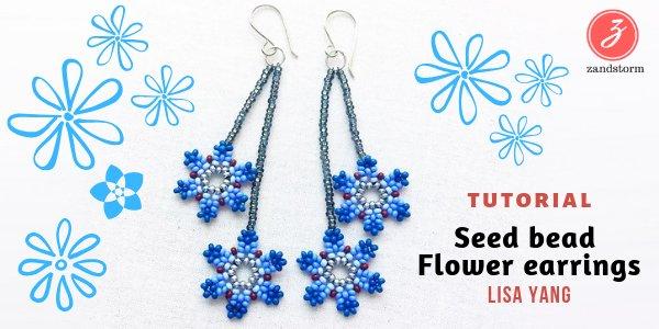 Tutorial: Seed bead Flower earrings