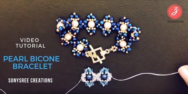 Video Tutorial: Pearl Bicone Bracelet (01/2019)