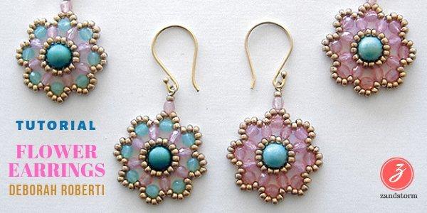 Tutorial:  Flower Earrings (01/2019)