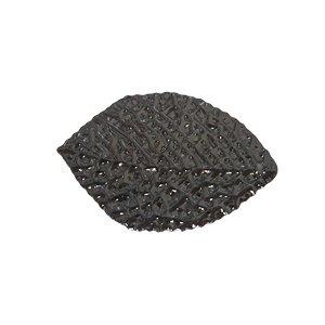 Blad hanger - Metaal - Zwart - 20x13mm