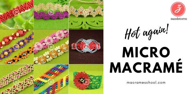 Macramé krijgt een nieuwe levensadem: leve de micro macramé!