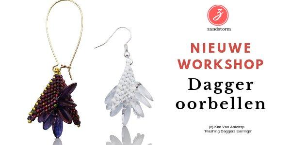 """Nieuwe workshop in mei: """"Dagger oorbellen"""""""