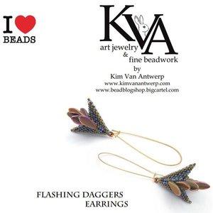 Exclusief Schema Dagger Beads - Flashing Daggers Oorbellen