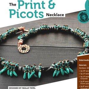 Exclusief Schema Dagger Beads - Print & Picots Halsketting